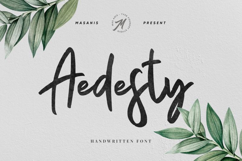 Aedesty手写手绘纹理英文字体下载