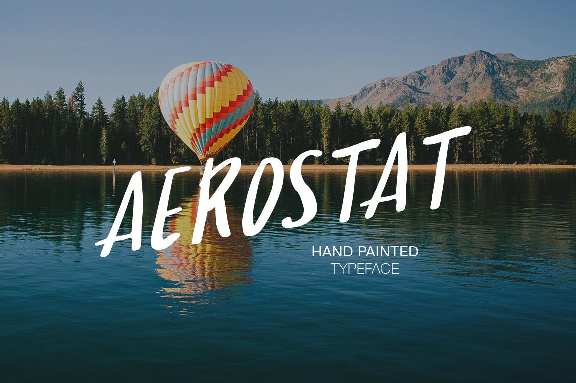 Aerostat手写个性大气海报英文字体下载