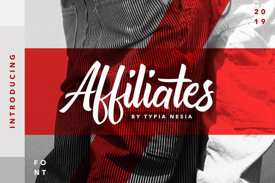 Affiliates手写手绘包装时尚服装英文字体下载