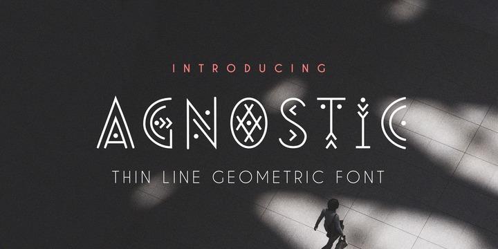 Agnostic个性现代创意英文字体下载