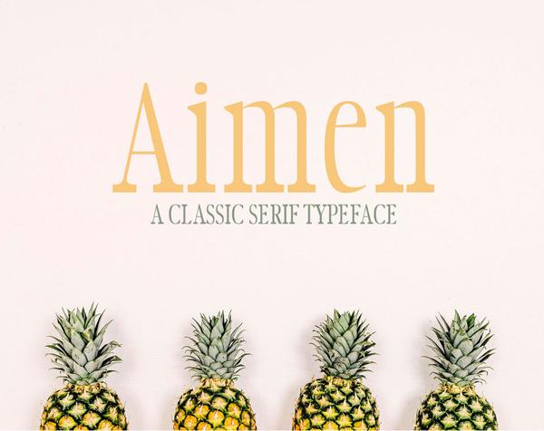 Aimen细长衬线简约海报英文字体下载