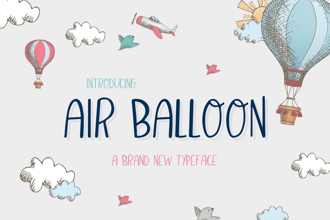 AirBalloon卡通可爱英文字体下载