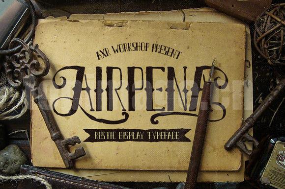 Airpena游戏复古罗马个性艺术英文字体下载