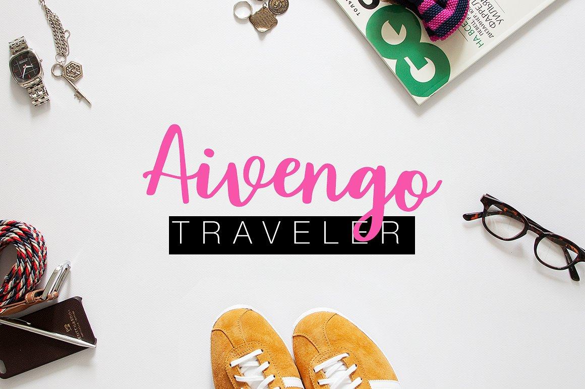 Aivengo手写连体简约海报时尚个性英文字体下载