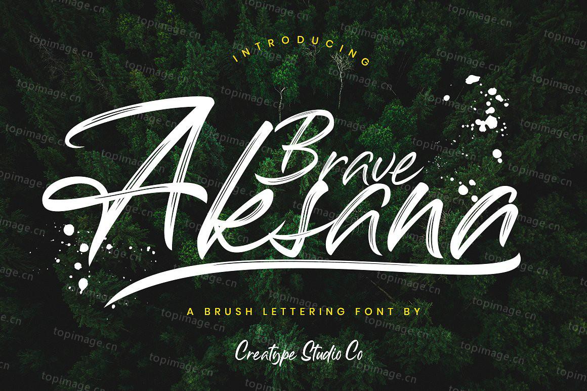 Aksana手写书法大气笔刷英文字体下载