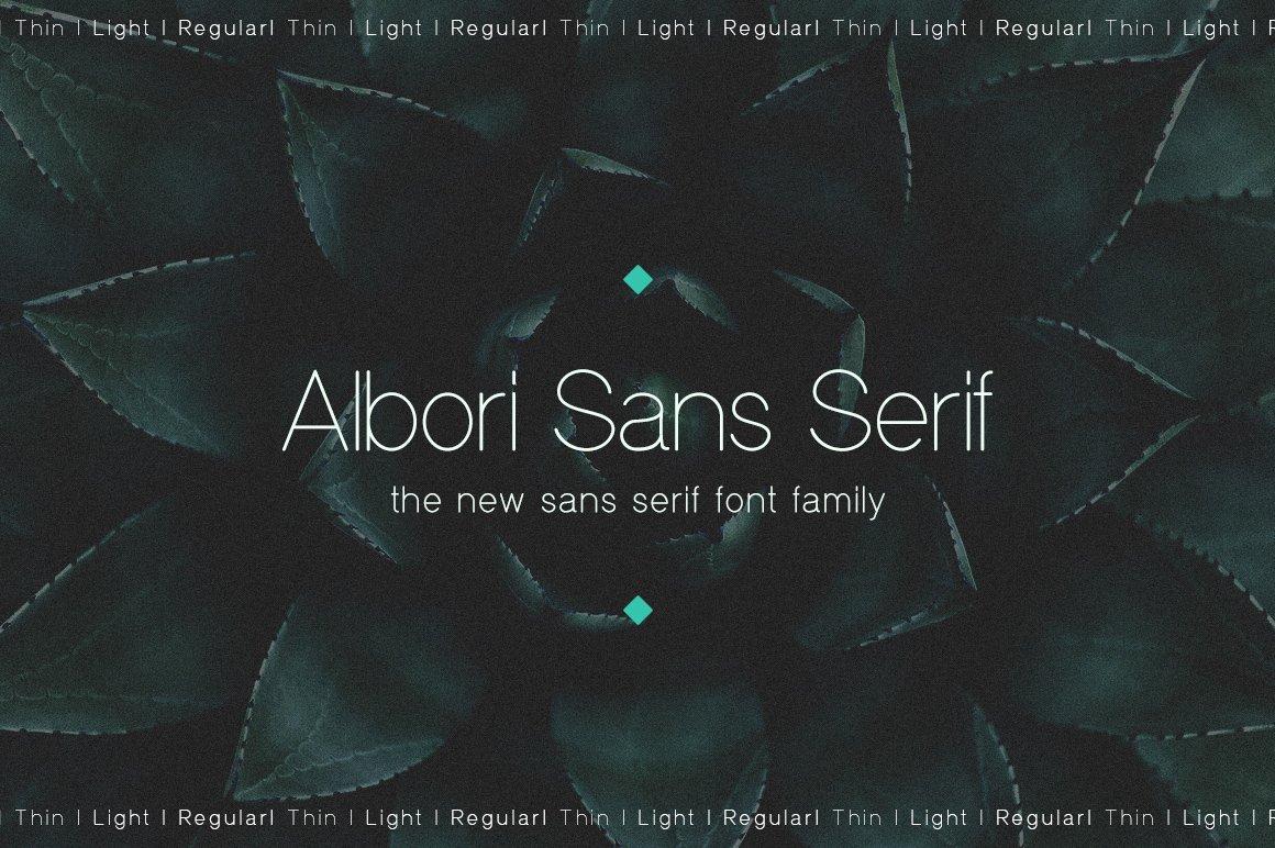 Albori极细无衬线简洁logo英文字体下载