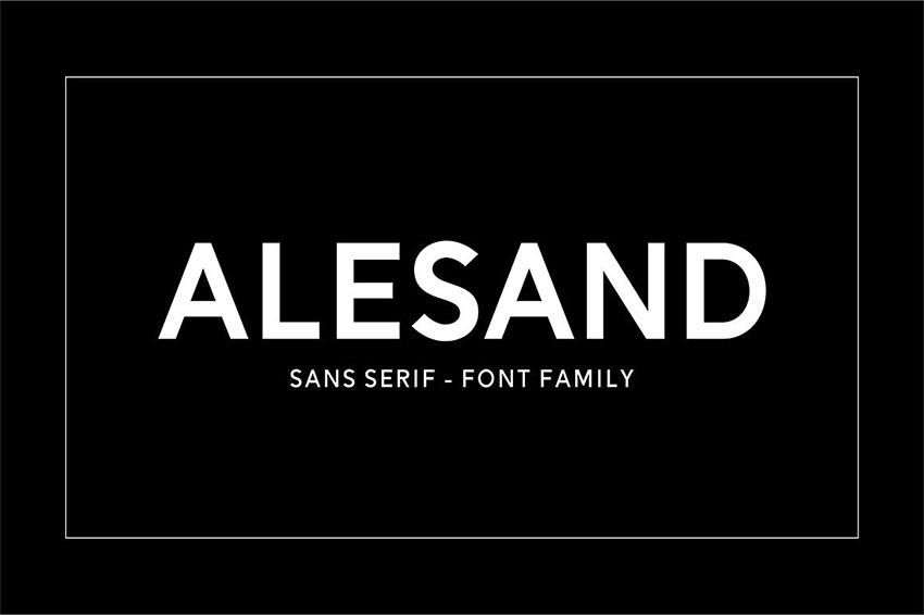 Alesand现代无衬线英文字体下载