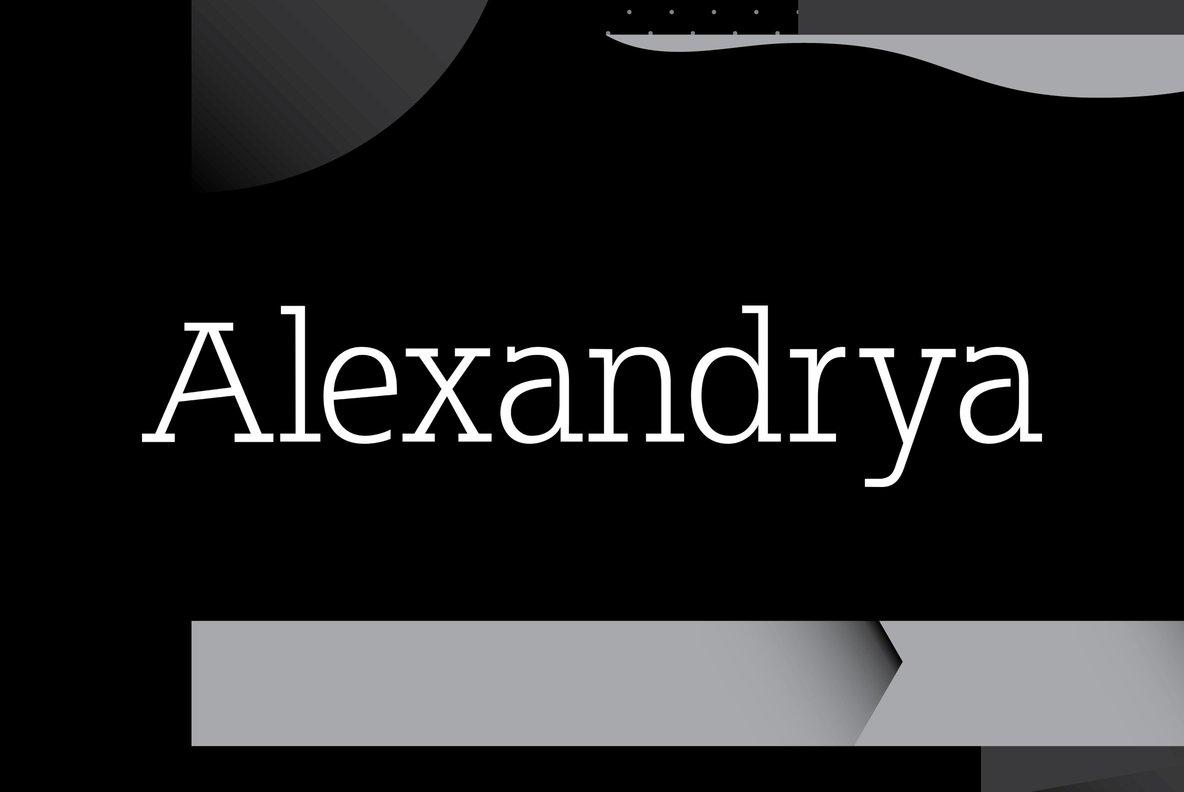 Alexandrya简约质感衬线英文字体下载