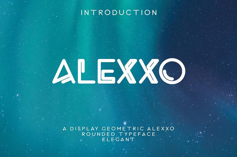 Alexxo个性logo好看的英文字体设计推荐下载