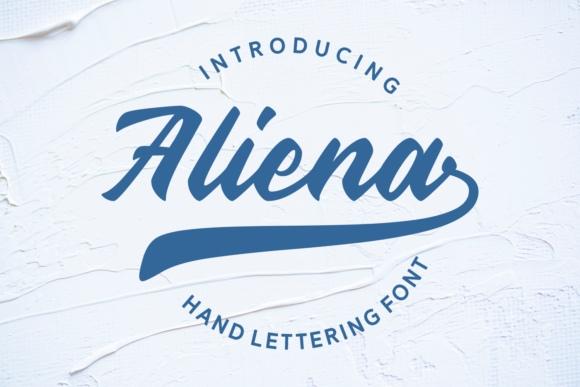 Aliena手写连笔包装手绘英文字体下载