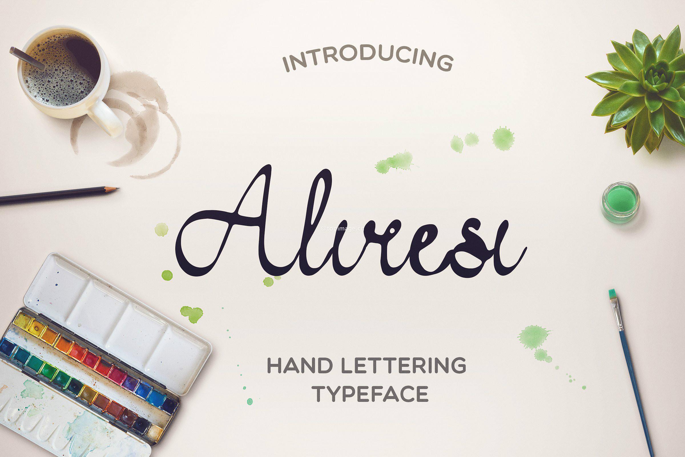 Aliresi创意手写手绘海报英文字体下载