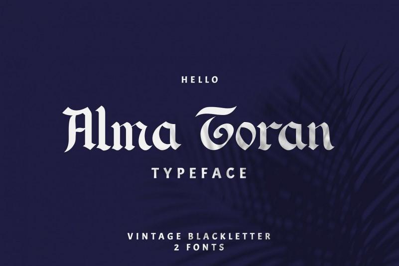 Alma Toran哥特现代英文字体下载