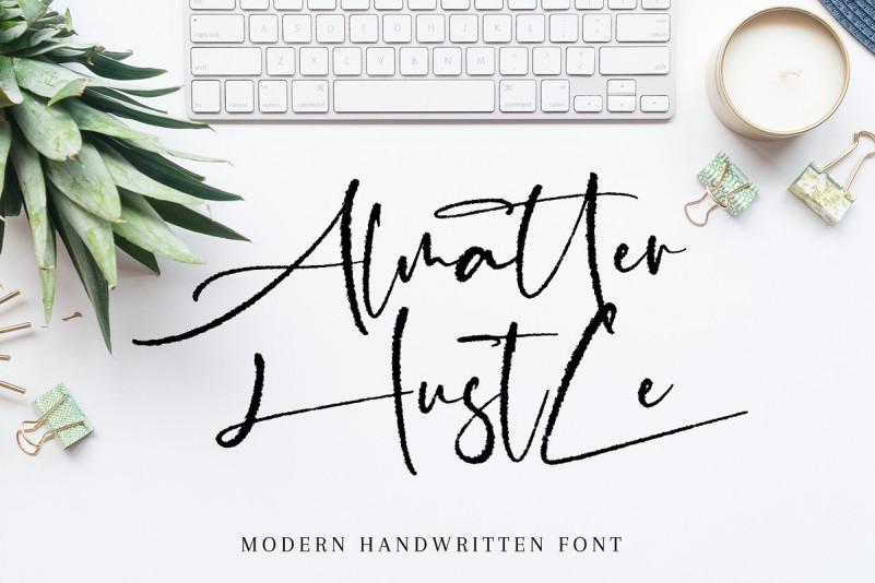 Almatter Hustle手写笔迹钢笔英文字体下载