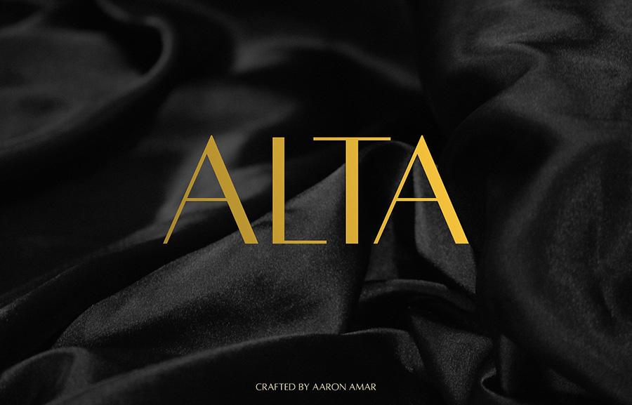 Alta现代设计师logo品牌英文字体下载