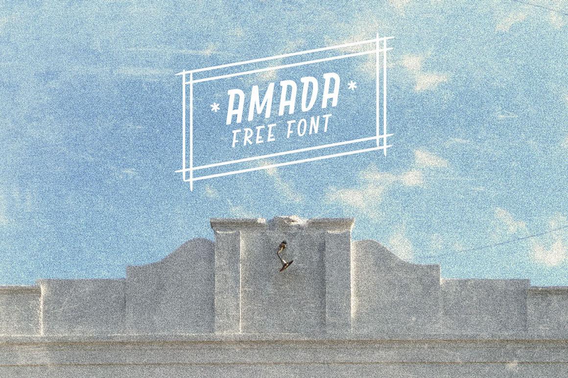AmadaRegular复古创意海报英文字体下载