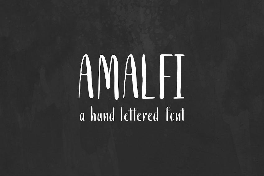 Amalfi手写儿童卡通英文字体下载