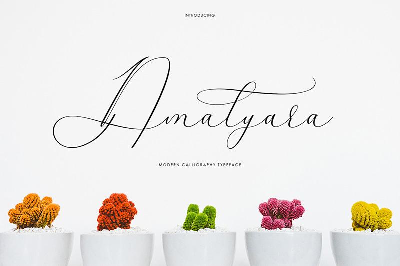 Amalyara手写连笔飘逸签名英文字体下载