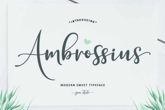 Ambrossius婚礼好看的手写英文字体下载