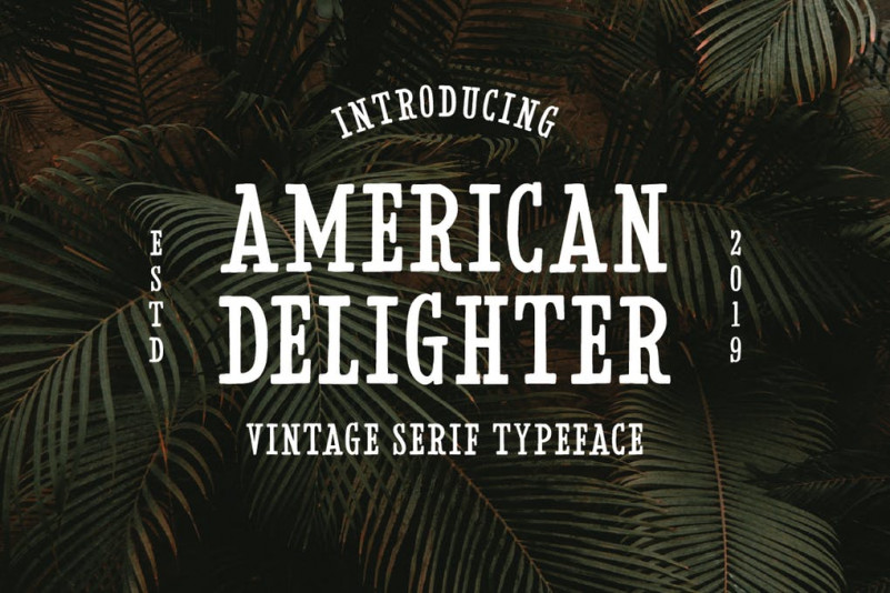 American服装行业衬线logo英文字体下载