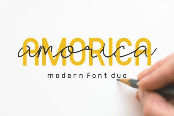 Amorica手写连笔签名英文字体下载