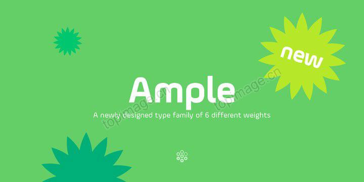 AmpleSoft现代圆润美食logo设计英文字体下载