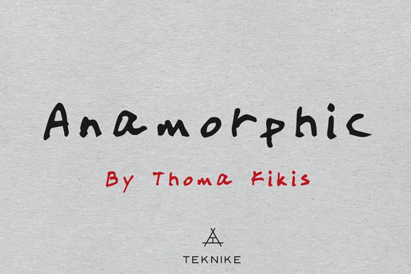Anamorphic包装印刷手写英文字体下载