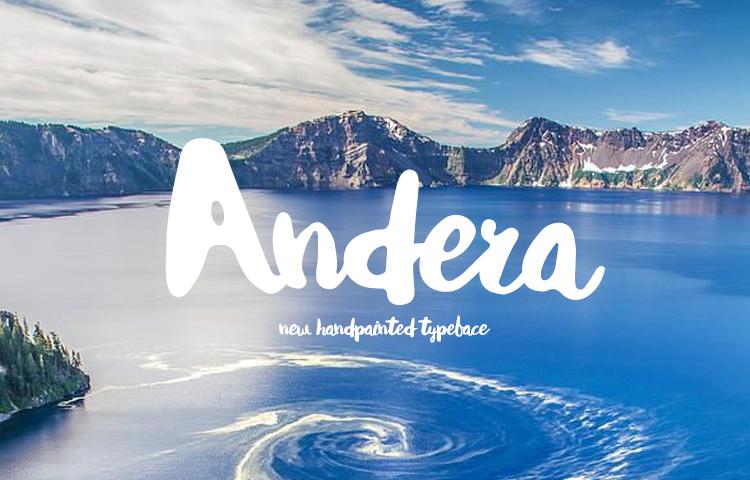 Andrea2服饰个性海报手写连体粗犷中性英文字体下载