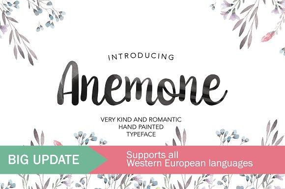 Anemone优雅简约手写连体海报英文字体下载