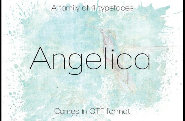Angelica纤细简洁现代英文字体下载