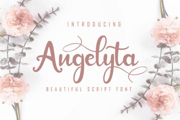 Angelyta好看的花式花体婚礼英文字体下载