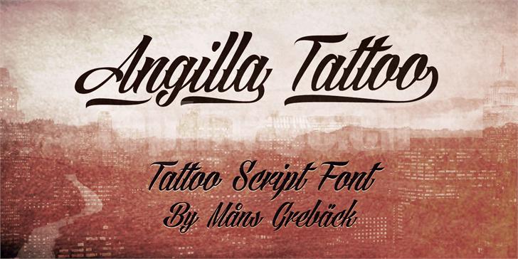 Angilla哥特式飘逸感个性化艺术英文字体下载