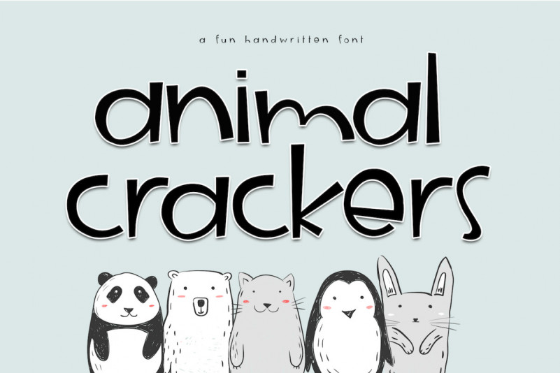 AnimalCrackers手写可爱趣味卡通英文字体下载