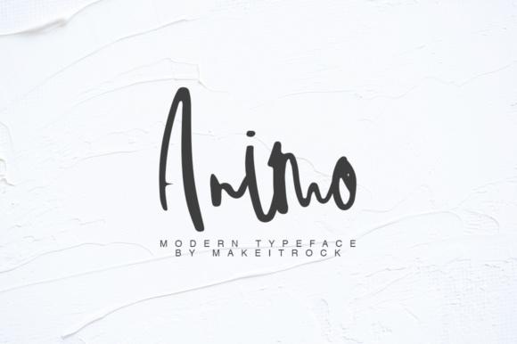 Animo手写笔刷英文字体下载