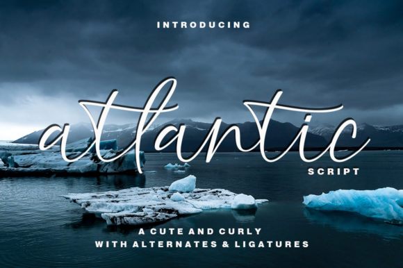 Anlantic网站海报手写连笔英文字体下载