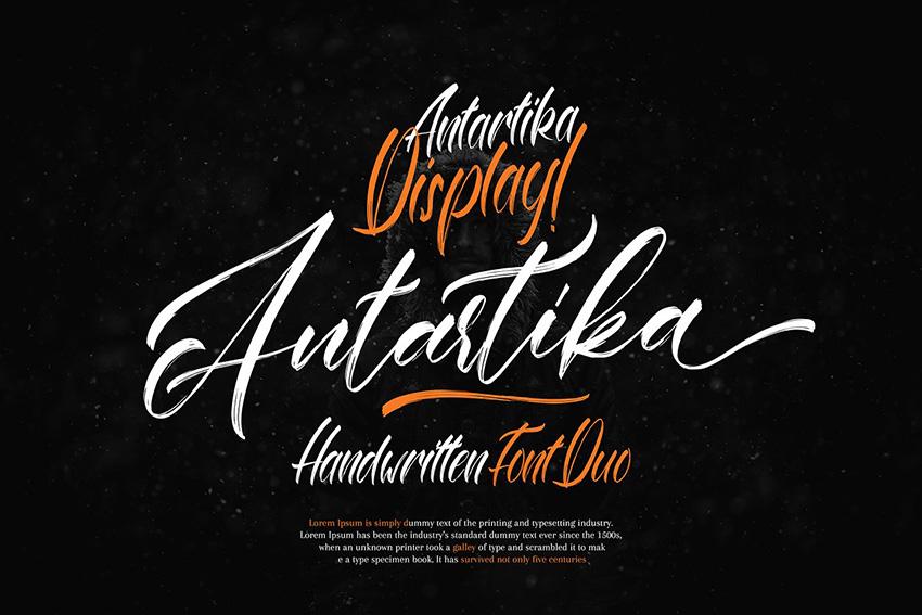 Antatrika 笔刷书法英文连笔字体下载