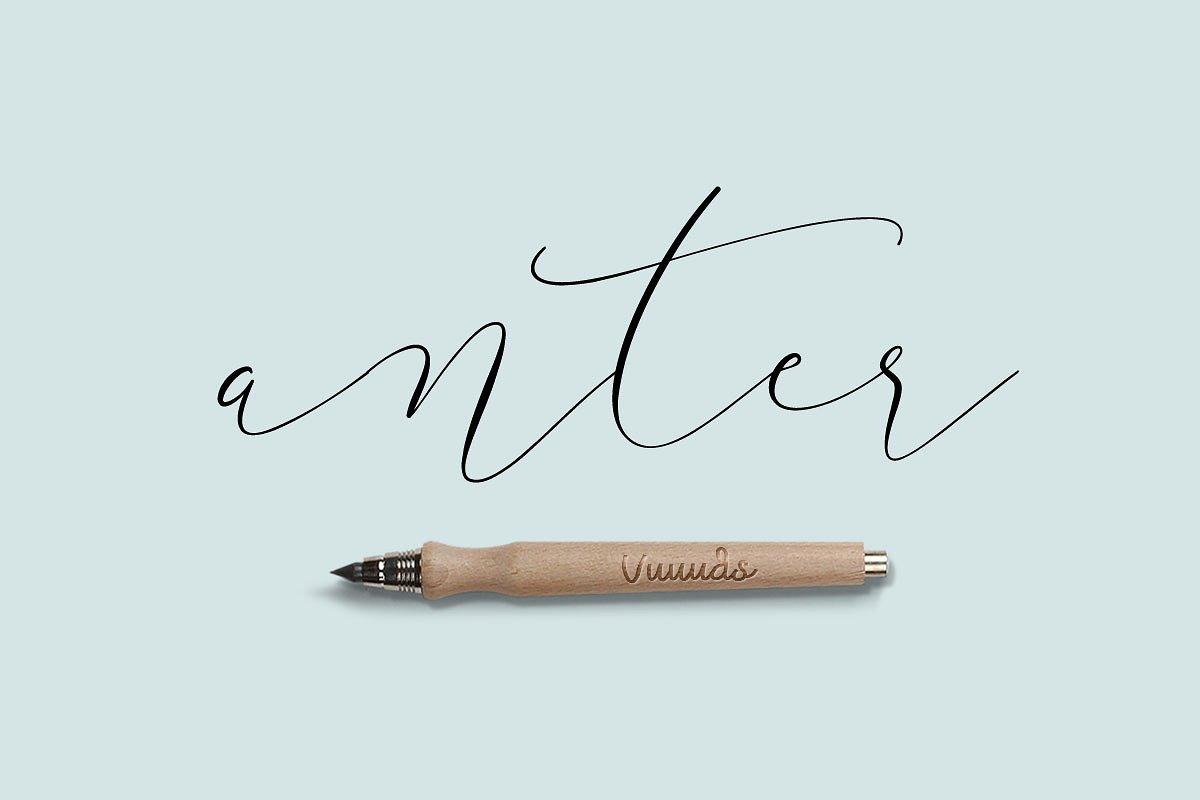 Anter钢笔手写连笔个性英文字体下载