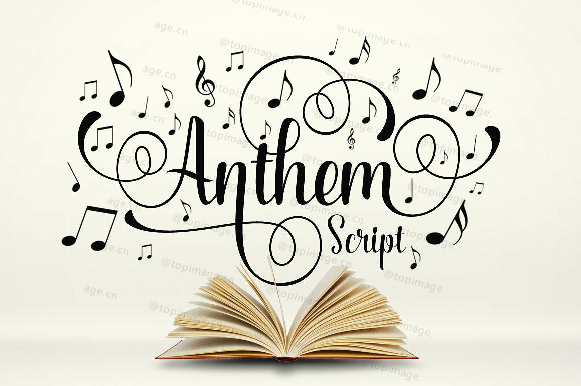 Anthem唯美好看的艺术婚礼英文字体下载