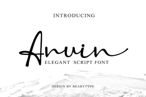 Anuin连笔手写手绘好看的英文字体下载