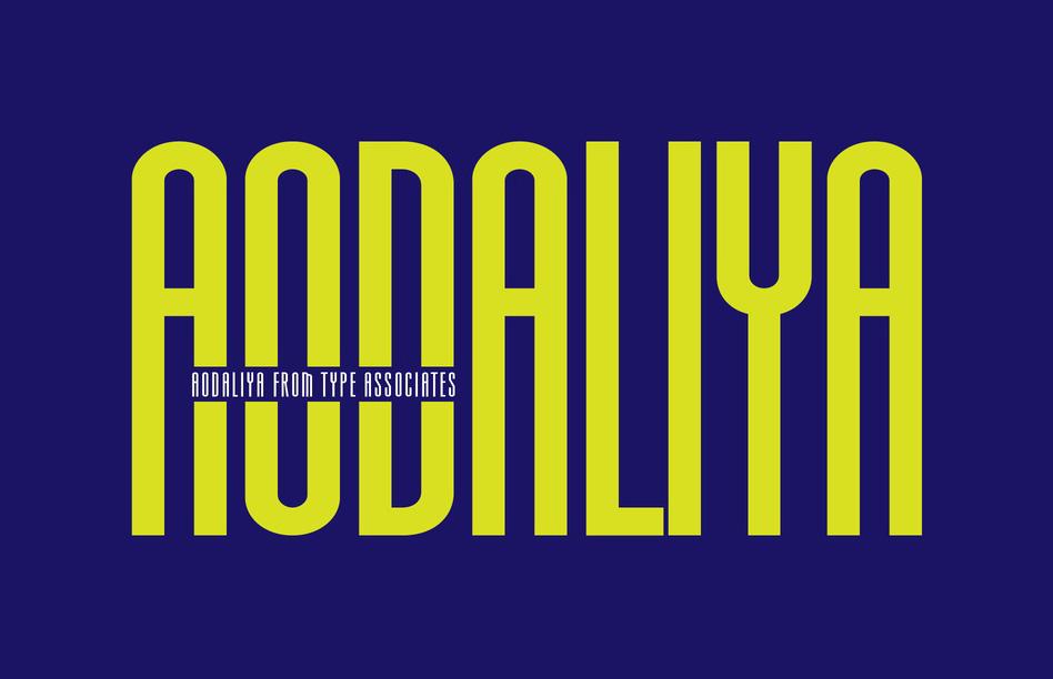 Aodaliya现代无衬线简洁logo英文字体下载