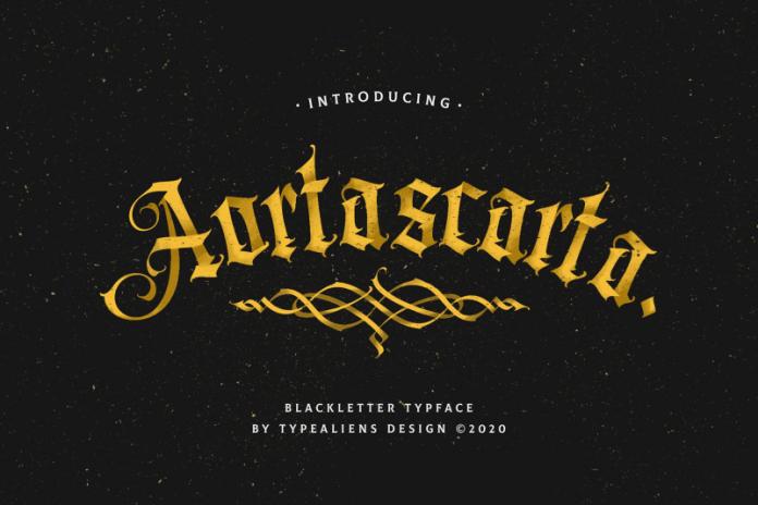 Aortascarta哥特奇卡诺纹身个性英文字体下载