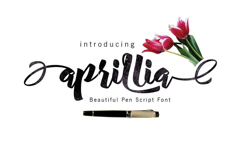 Aprillia个性大气手写英文字体下载