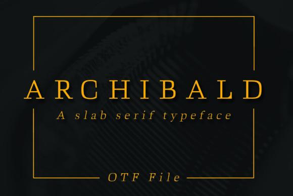 Archibald衬线等宽英文字体下载