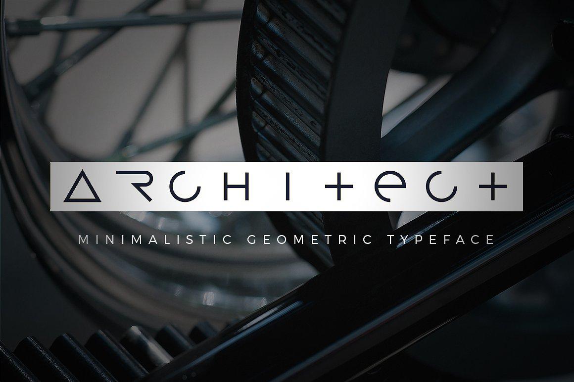 Architect创意工业类logo英文字体下载
