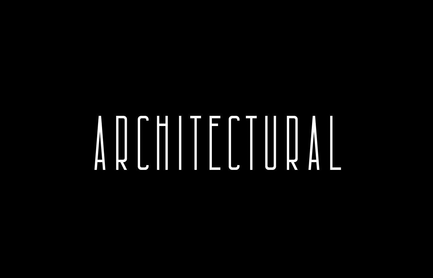 Architectural现代无衬线logo设计英文字体下载
