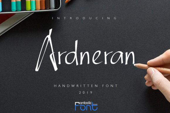 Ardneran手写手绘连笔签名艺术英文字体下载
