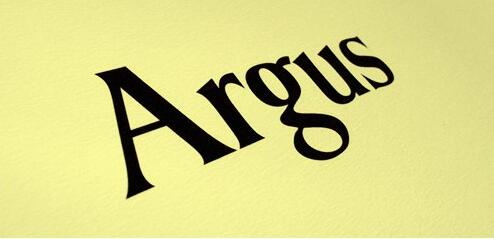 Argus衬线现代logo经典英文字体下载