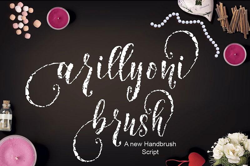 Arillyoni Brush 手写笔触纹理个性英文字体下载