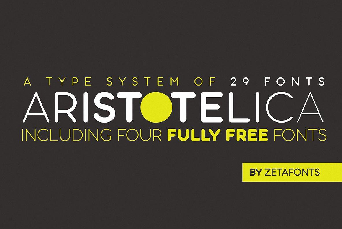 Aristotelica无衬线圆润现代logo排版英文字体下载