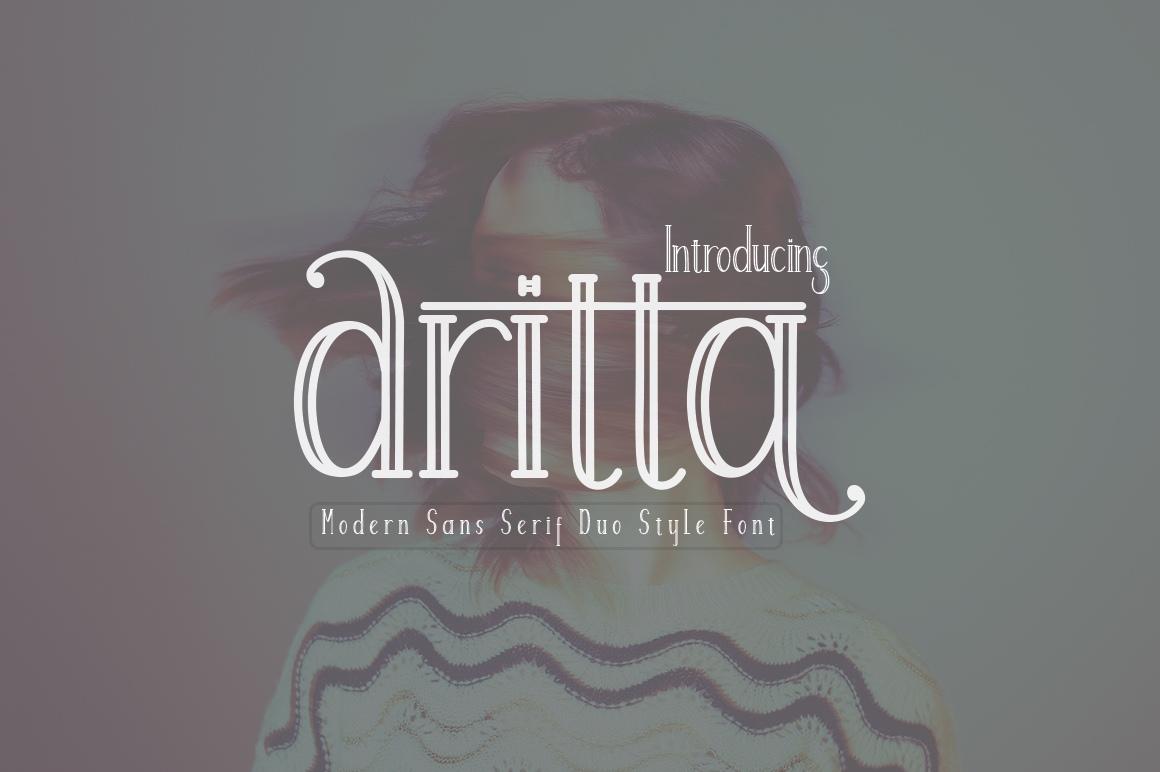 Aritta现代衬线个性logo空心英文字体下载