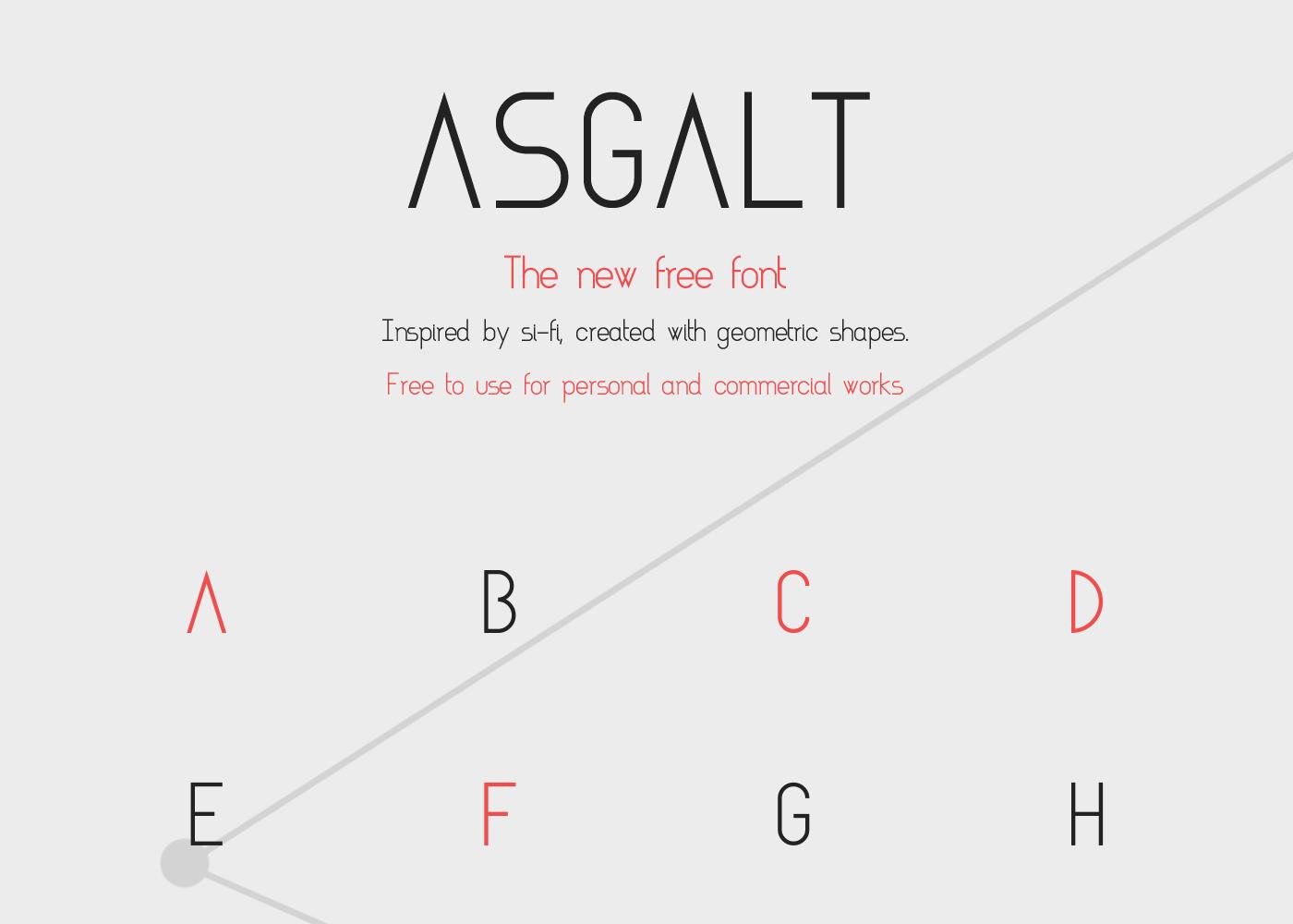 Asgalt极简时尚现代logo英文字体下载